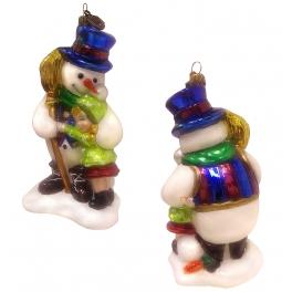 Стеклянная игрушка на елку «Снежный друг», Komozja и Mostowski, Польша