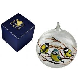 Елочный шар «Синички на веточке»