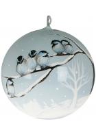 Елочный шар «Птички на морозе»
