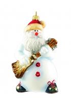 Елочная игрушка «Снеговик с гитарой»