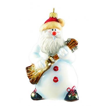 Елочная игрушка «Снеговик с гитарой», коллекция Komozja Family, Польша