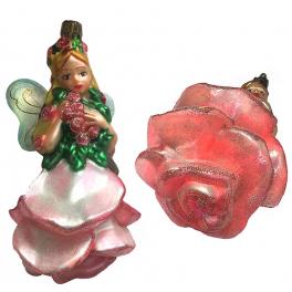 Елочная игрушка ручной работы «Романтический Ангел»