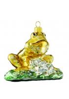 Елочная игрушка «Жаба на кувшинке»