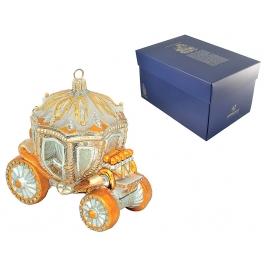 Стеклянная ёлочная игрушка «Карета Золушки» в фирменной упаковке