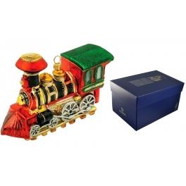 Елочная игрушка «Паровоз», новогоднее украшение ручной работы