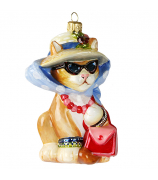 Елочная игрушка «Кошка в шляпе»