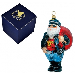 Елочная игрушка «Санта Рокер»