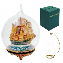 Елочная игрушка-глоб «Корабль», материал стекло, Komozja и Mostowski