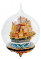 Елочная игрушка-глоб «Корабль»