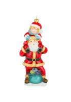 Елочная игрушка «Санта с малышом»