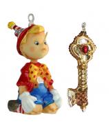 Набор елочных игрушек «Тайна золотого ключика»