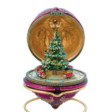 Новогодний сувенир ручной работы. Шкатулка с секретом «Новогодний экспресс»