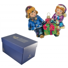 Елочная игрушка «Дети с подарками»
