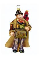 Елочная игрушка «Шарманщик с попугаем»