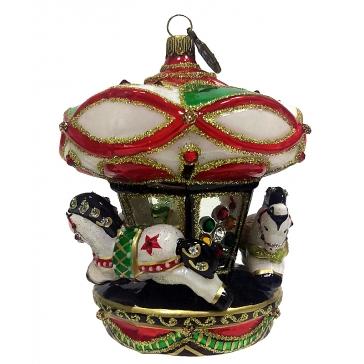 Ёлочная игрушка «Карусель с лошадками»