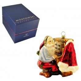 Музыкальный сувенир — елочная игрушка «Дед Мороз, играющий на пианино»