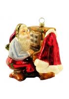 Музыкальная елочная игрушка «Дед Мороз, играющий на пианино»