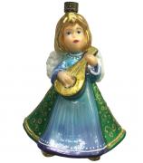 Елочная игрушка «Ангел с мандалиной»