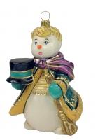 Елочная игрушка «Снеговик со шляпой»
