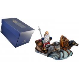 Стеклянная елочная игрушка «Тройка Деда Мороза» в фирменной упаковке