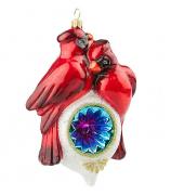 Елочная игрушка «Две птички на фонаре»