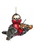 Елочная игрушка «Снегирь-скрипач»
