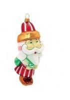 Елочная игрушка «Дед Мороз – сахарная карамелька»