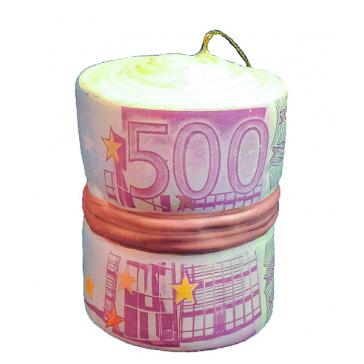 Польская елочная игрушка «Пачка Евро»