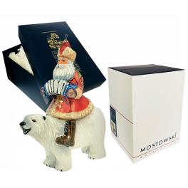 Елочная игрушка Komozja Family «Дед Мороз на белом медведе», Польша