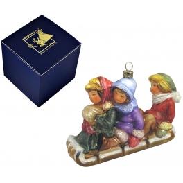 Елочная игрушка «На санках с ветерком»