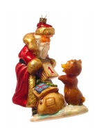 Ёлочная игрушка «Дед Мороз с календарем»