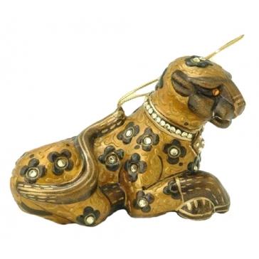 Стеклянная ёлочная игрушка «Пума»