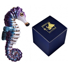 Елочная игрушка со стразами Swarovski «Морской конёк», производство Польша