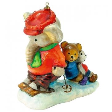 Польская ёлочная игрушка «Трусливый слоник»