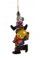 Елочная игрушка «Веселые фигуристы»