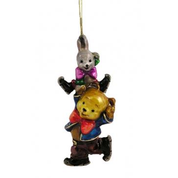 Стеклянная елочная игрушка «Веселые фигуристы», Komozja и Mostowski