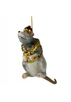 Елочная игрушка Крыса в драгоценном жилете
