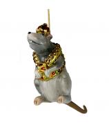 Елочная игрушка «Крыса в драгоценном жилете»
