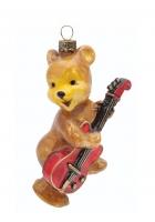 Елочная игрушка «Мишка с гитарой»