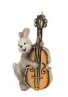 Елочная игрушка «Зайчик с контрабасом»