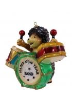 Елочная игрушка «Ёжик-барабанщик»
