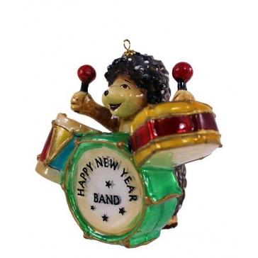 Елочная игрушка Komozja и Mostowski «Ёжик-барабанщик», ручная работа
