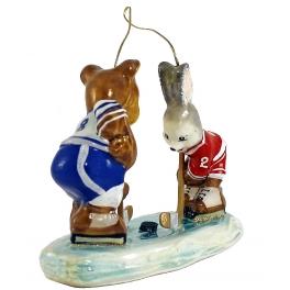 Елочная игрушка «Хоккеисты»
