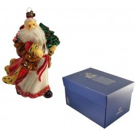 Новогодняя игрушка из стекла «Нарядный Дедушка Мороз»