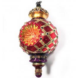 Елочная игрушка-рефлектор «Рождество», стекло с художественной росписью
