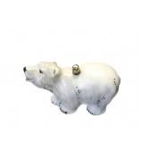 Елочная игрушка «Белый медведь»