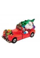 Елочная игрушка «Санта на кабриолете»