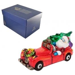 Елочная игрушка «Санта на кабриолете», производство Польша