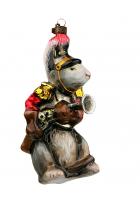Елочная игрушка «Мышь с мушкетом»