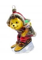 Елочная игрушка «Мишка-почтальон»
